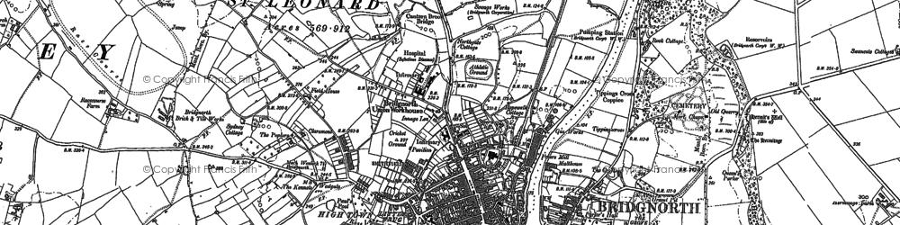 Old map of Bridgnorth in 1882