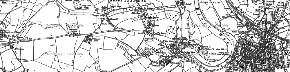 Old map of Wyelea in 1887