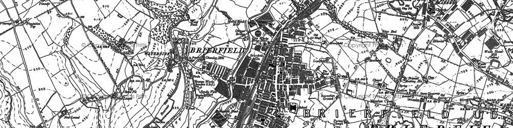 Old map of Brierfield in 1891