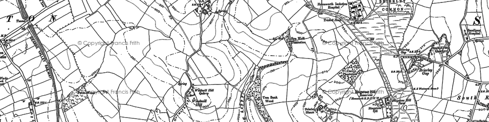 Old map of Windmill Hill in 1891