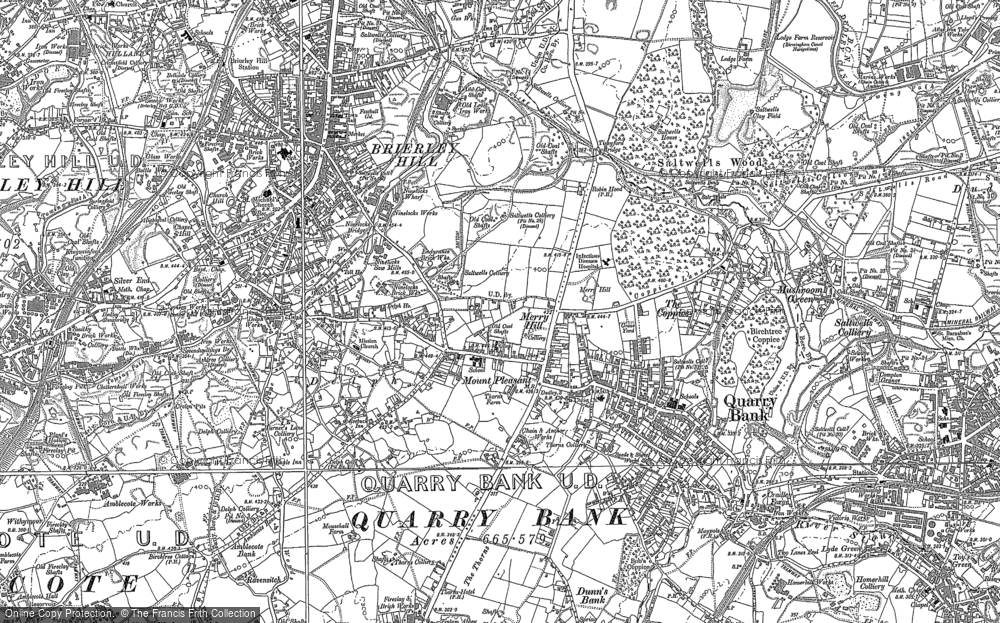 Old Map of Brierley Hill, 1901 in 1901