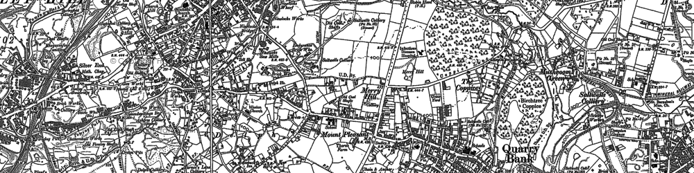 Old map of Brierley Hill in 1901