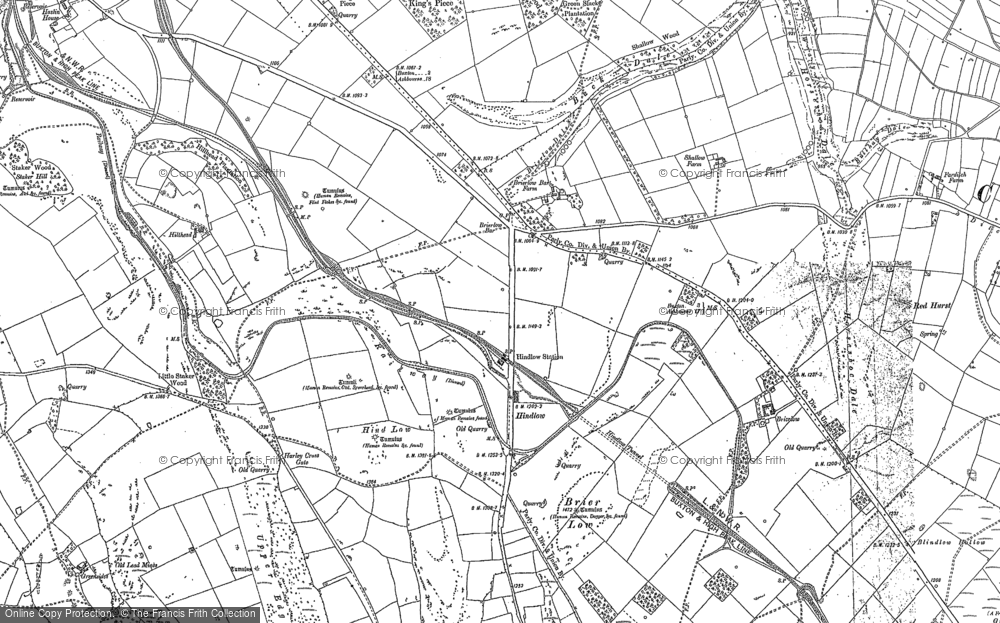 Old Map of Historic Map covering Back Dale in 1897