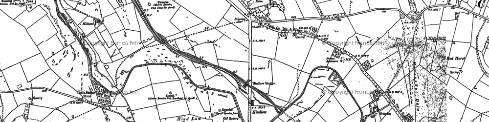 Old map of Back Dale in 1897