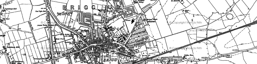Old map of Westrum in 1885