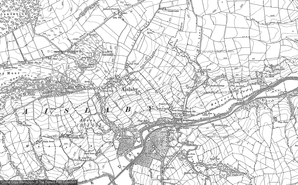 Old Map of Historic Map covering Aislaby in 1911