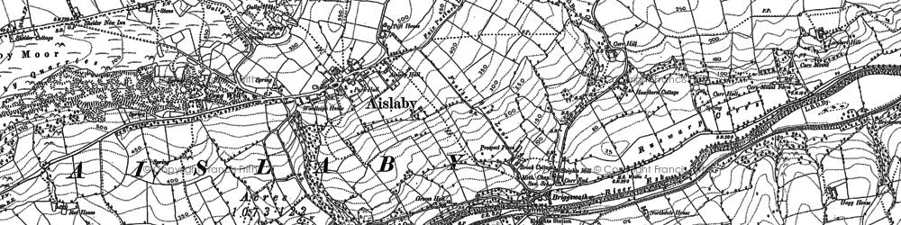 Old map of Aislaby in 1911