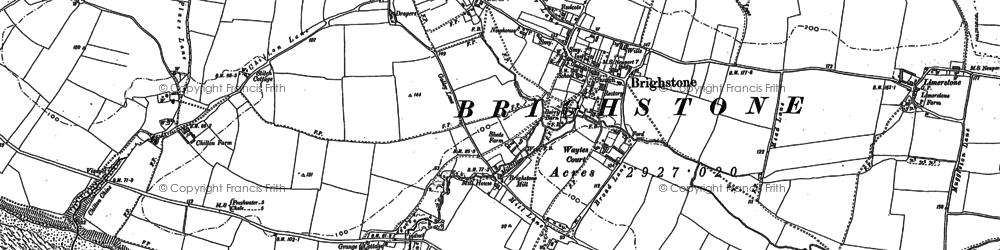 Old map of Brighstone in 1907