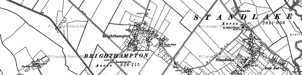 Old map of Brighthampton in 1898