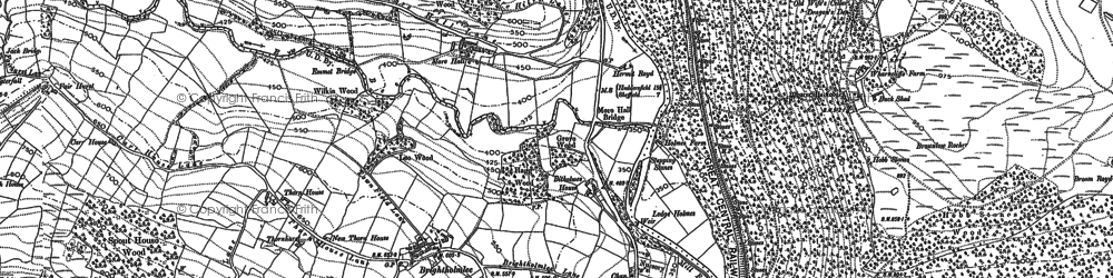 Old map of White Lee Moor in 1891