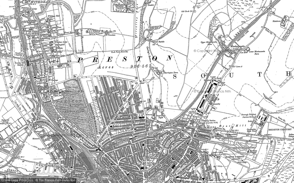 Old Map of Brighton, 1909 in 1909