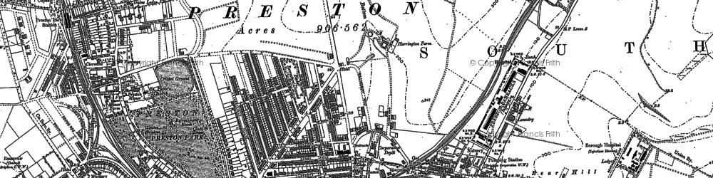 Old map of Brighton in 1909