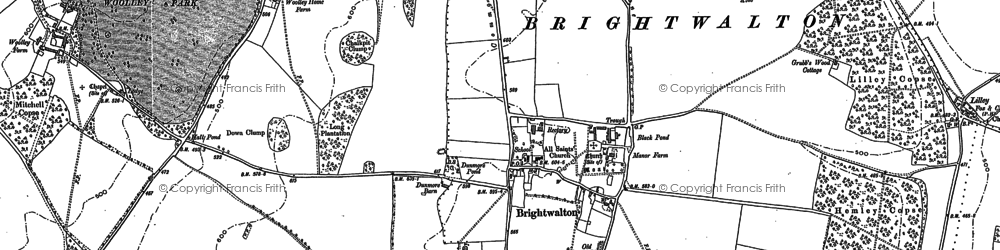 Old map of Brightwalton in 1898