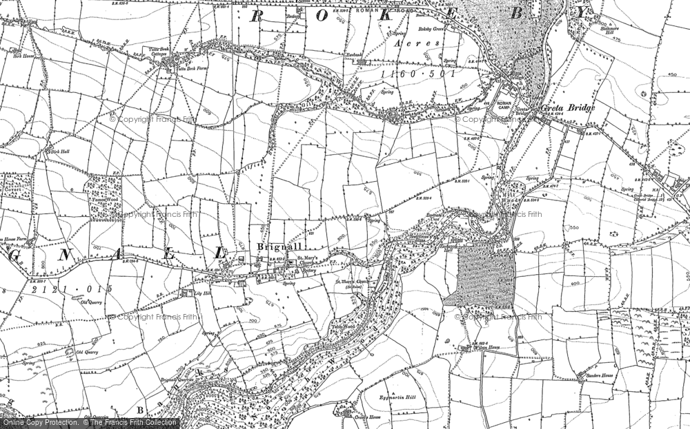 Old Map of Historic Map covering Lily Hill in 1854