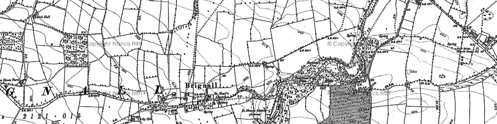 Old map of Lily Hill in 1854