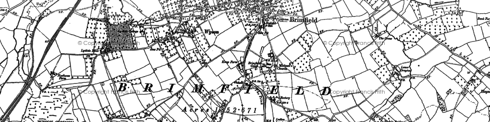 Old map of Brimfield in 1885