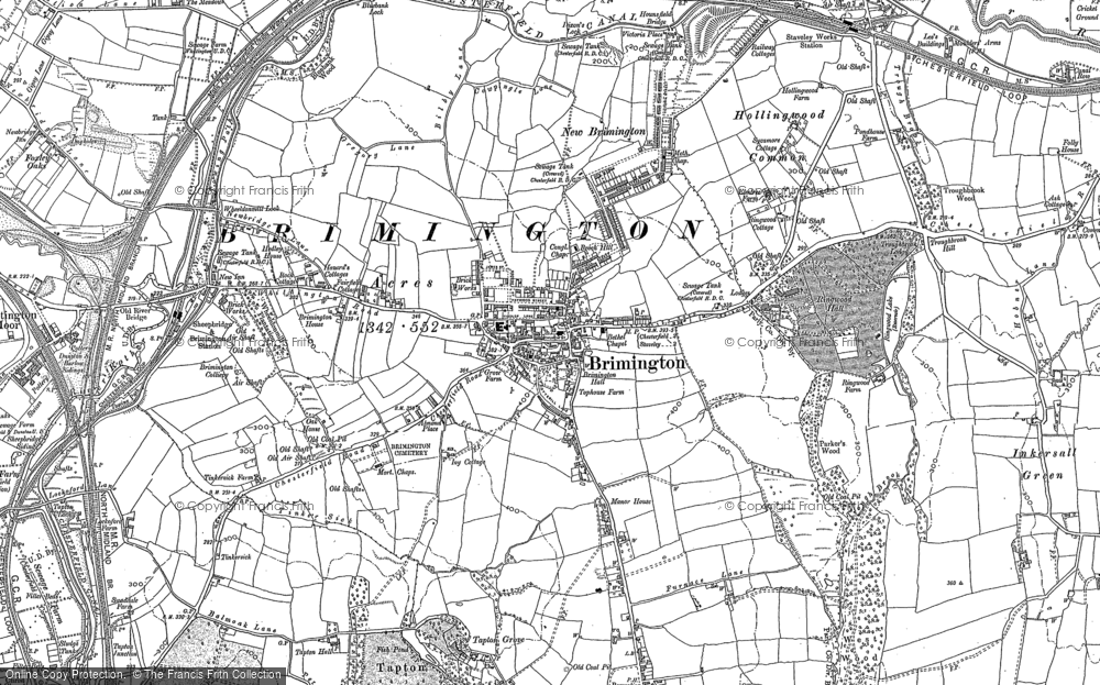 Old Map of Brimington, 1876 in 1876