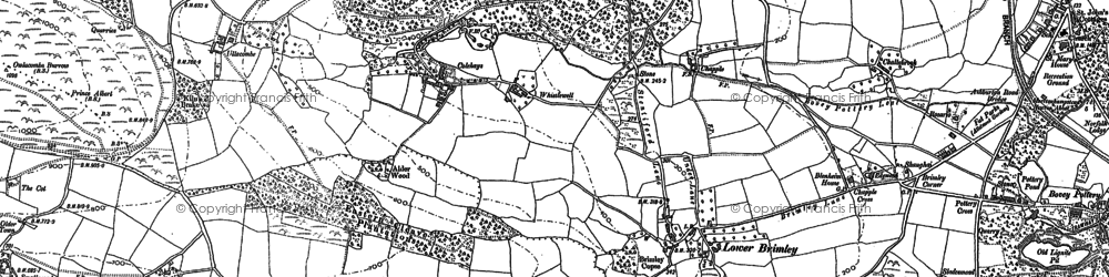Old map of Langaller in 1885