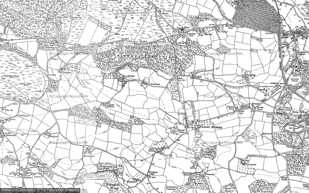 Old Map of Historic Map covering Lenda in 1895