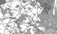 Old Map of Brimpton Common, 1909