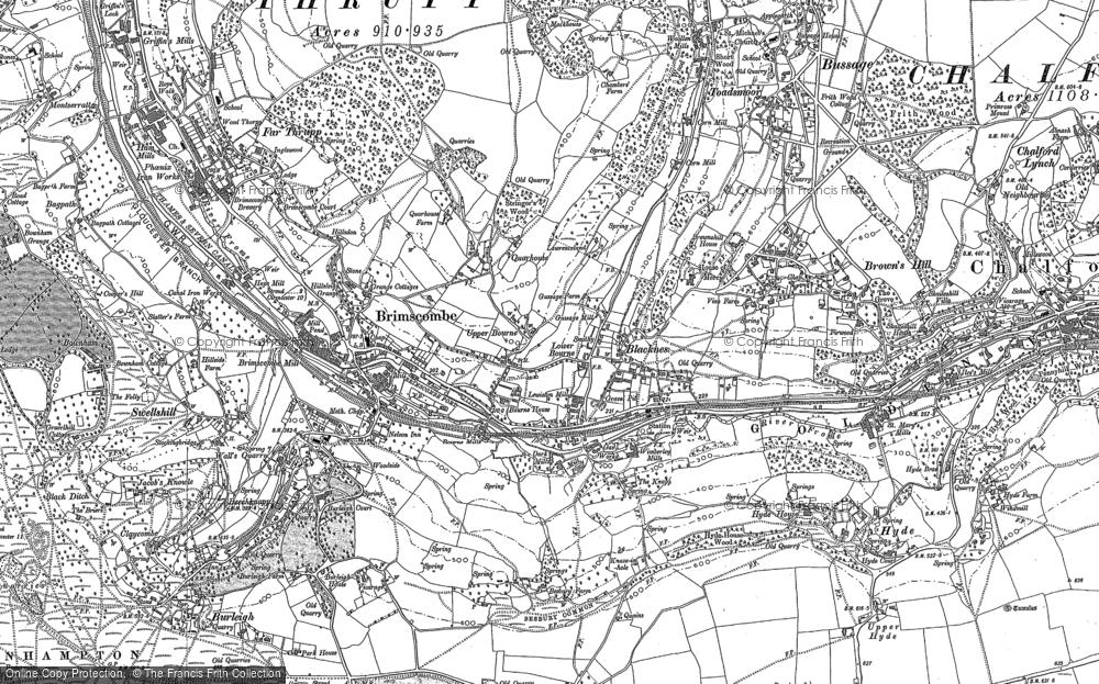 Map of Brimscombe, 1882 - 1883
