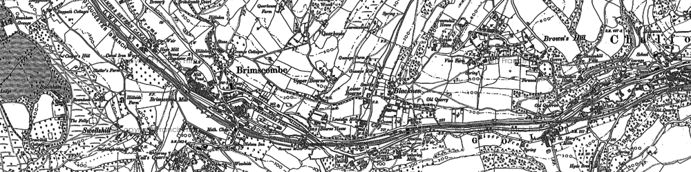 Old map of Brimscombe in 1882