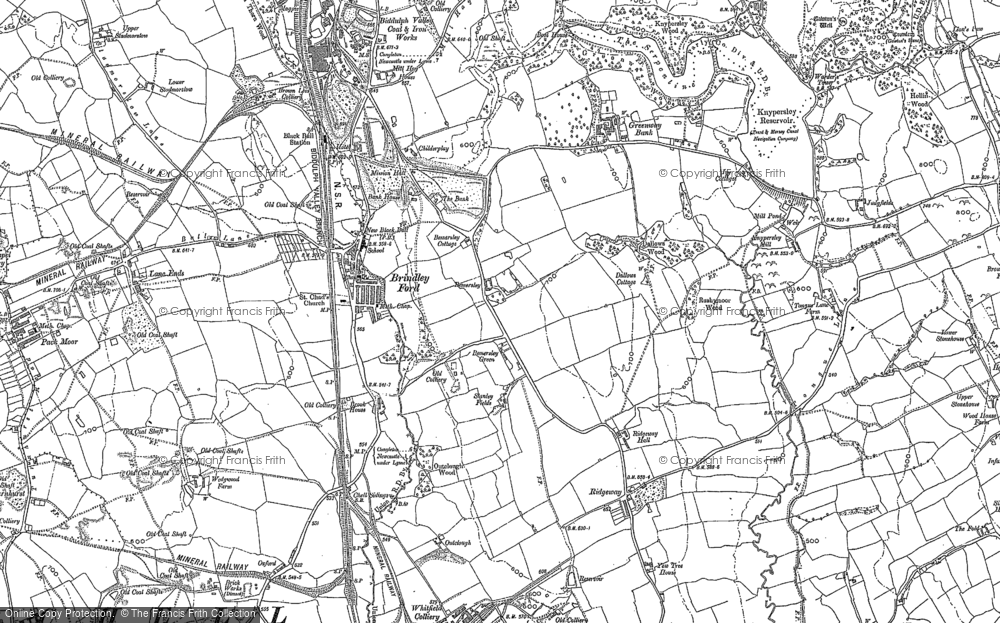 Old Map of Historic Map covering Lane Ends in 1898