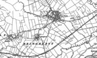 Old Map of Bringhurst, 1899 - 1902