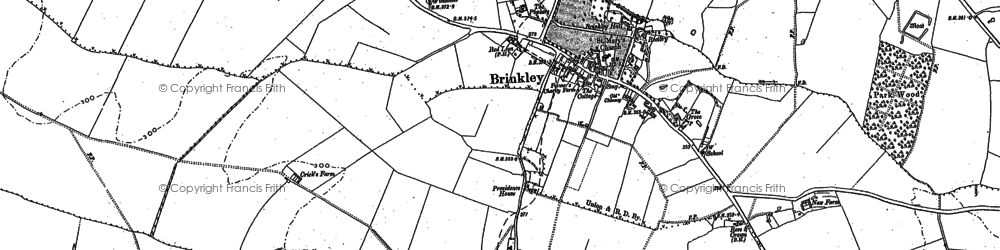 Old map of Brinkley in 1885