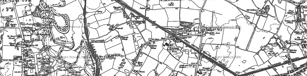 Old map of Brinnington in 1907