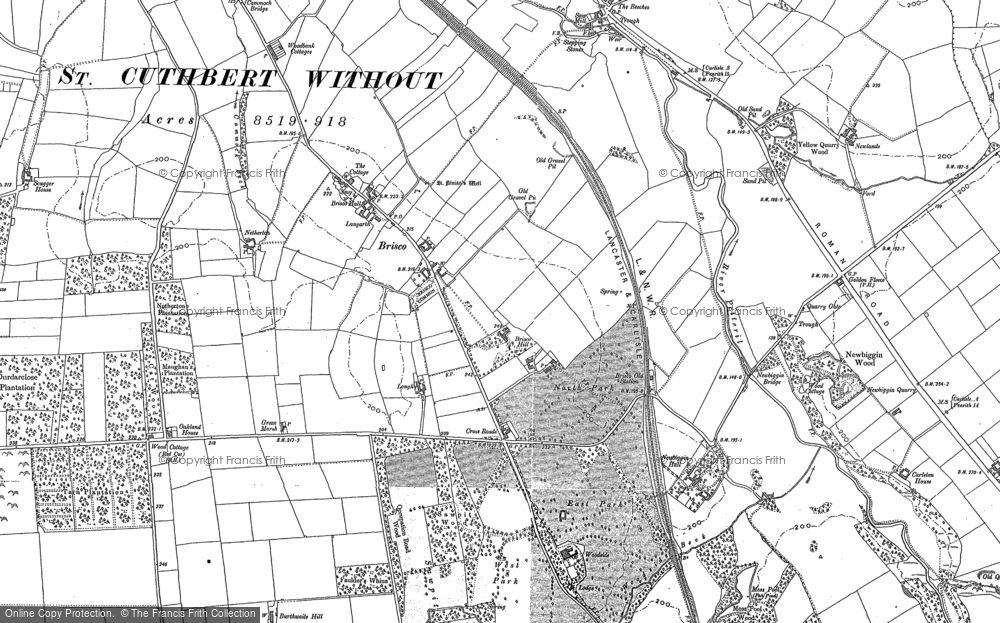 Old Map of Historic Map covering Woodbank Ho in 1899