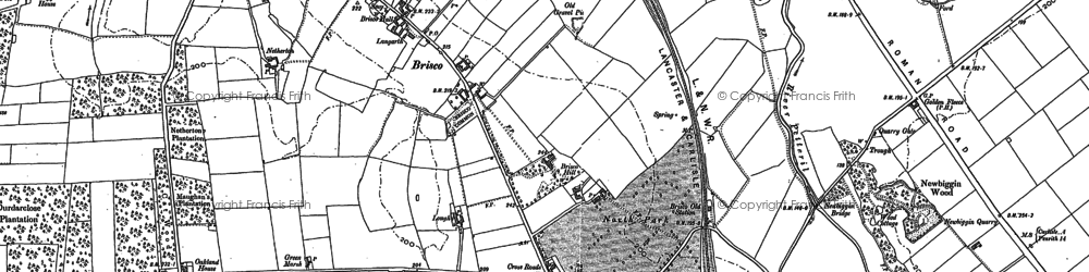 Old map of Woodside in 1899
