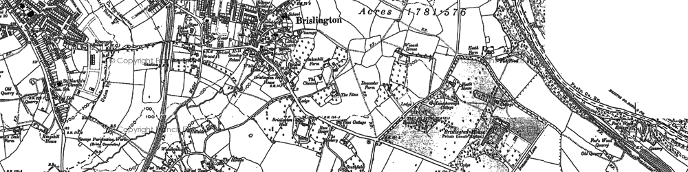 Old map of Broom Hill in 1902
