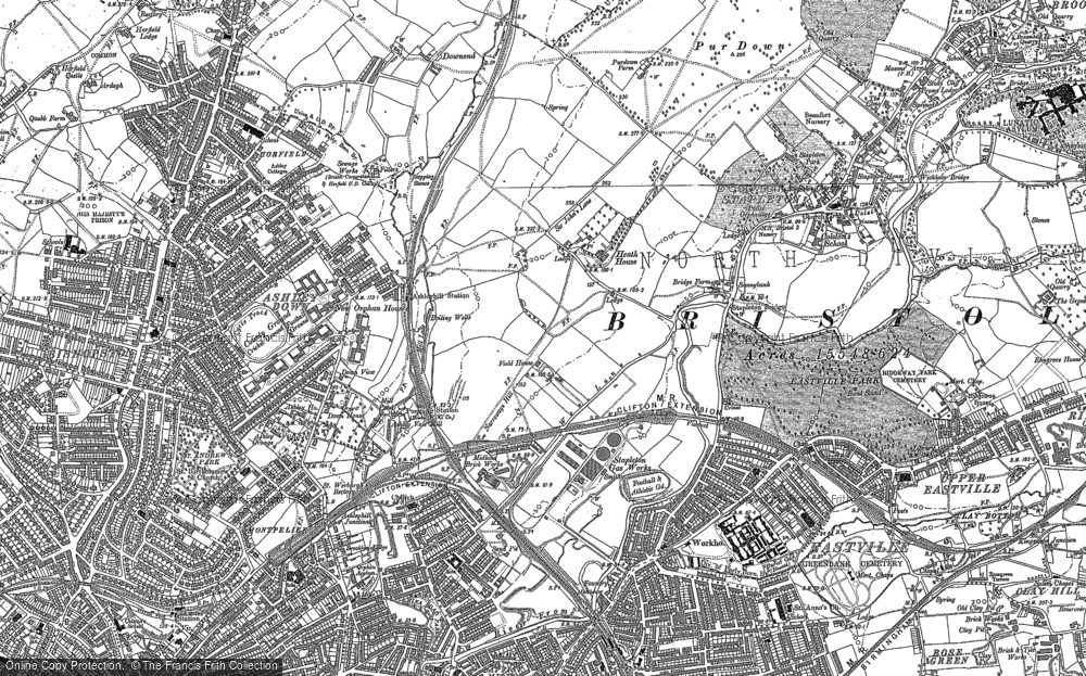 Map of Bristol, 1902