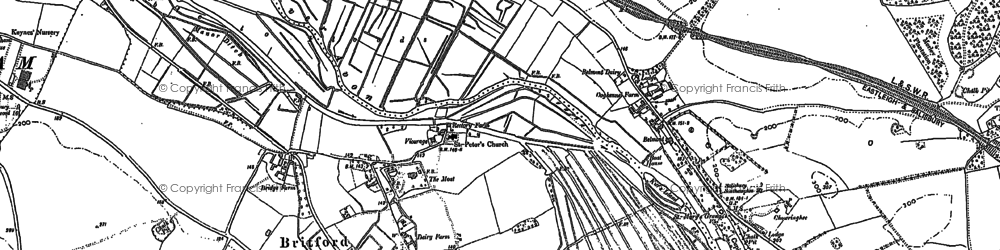 Old map of Britford in 1900