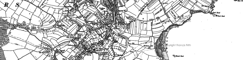 Old map of Brixham in 1937