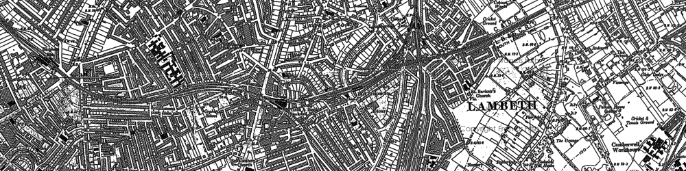 Old map of Brixton in 1894