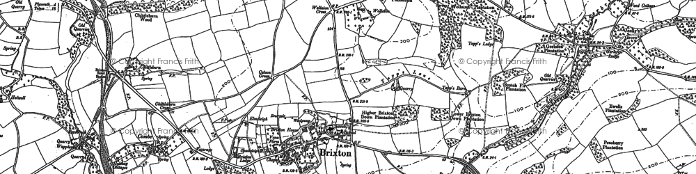 Old map of Winston in 1905