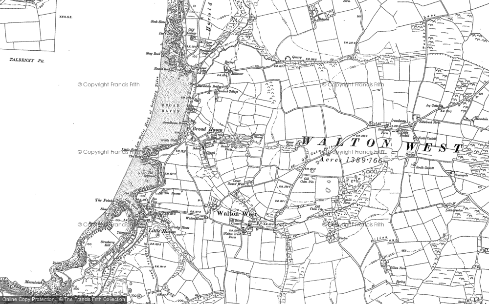 Old Map of Broad Haven, 1875 - 1906 in 1875