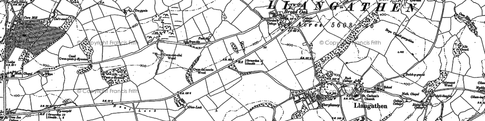 Old map of Broad Oak in 1885
