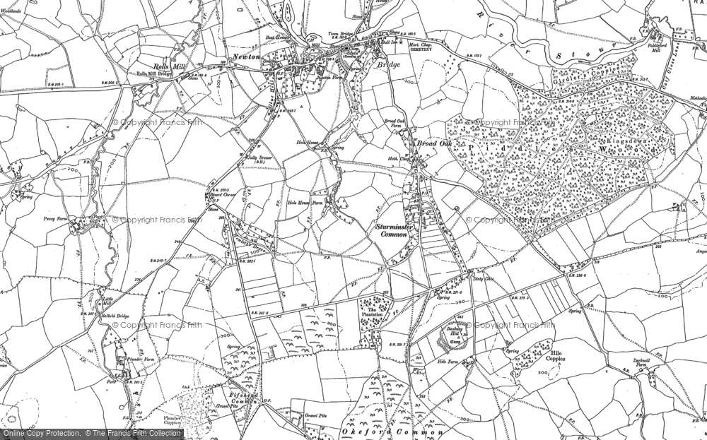 Old Map of Historic Map covering Banbury Hill (Fort) in 1886