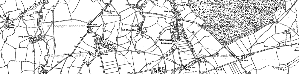 Old map of Banbury Hill (Fort) in 1886