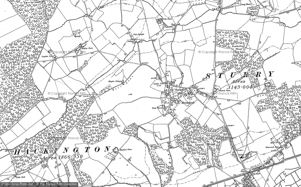 Old Map of Historic Map covering Allcroft Grange in 1896