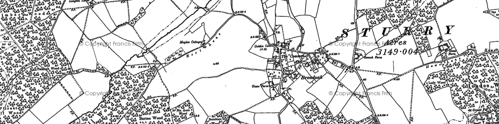 Old map of Langton Lodge in 1896
