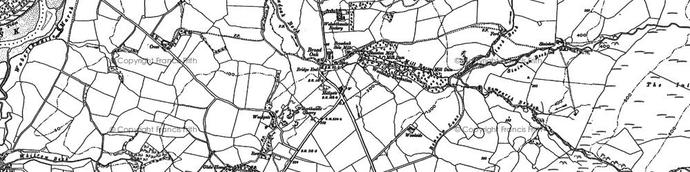 Old map of Whitrow Beck in 1897