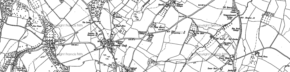 Old map of Broad Oak in 1903