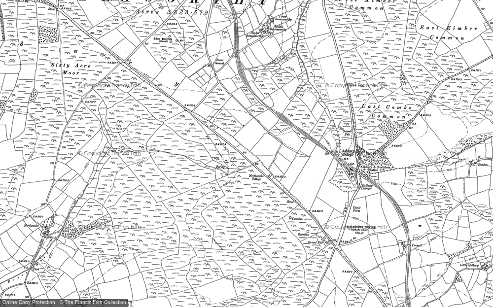 Old Map of Historic Map covering Bannadon in 1884