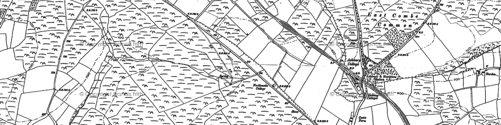 Old map of Bannadon in 1884