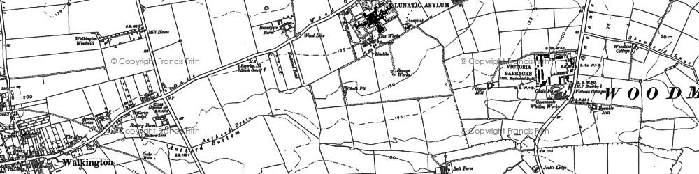 Old map of White Hall in 1889