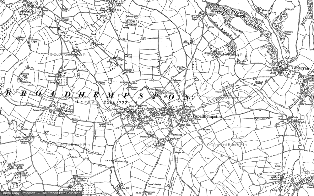Old Map of Historic Map covering Lee in 1886